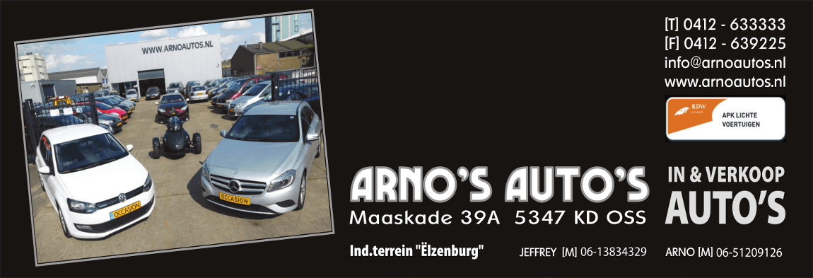 Advertentie Arno's Autos
