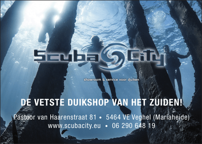 Advertentie Scuba City