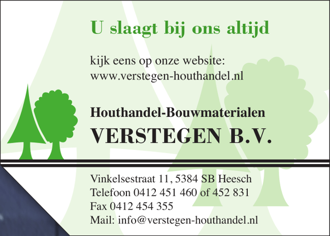 Advertentie Verstegen
